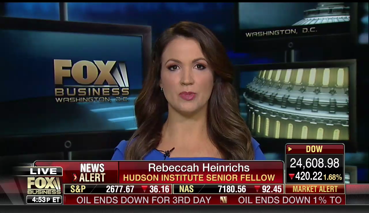 Rebeccah Heinrichs on Fox Business, March 1, 2018