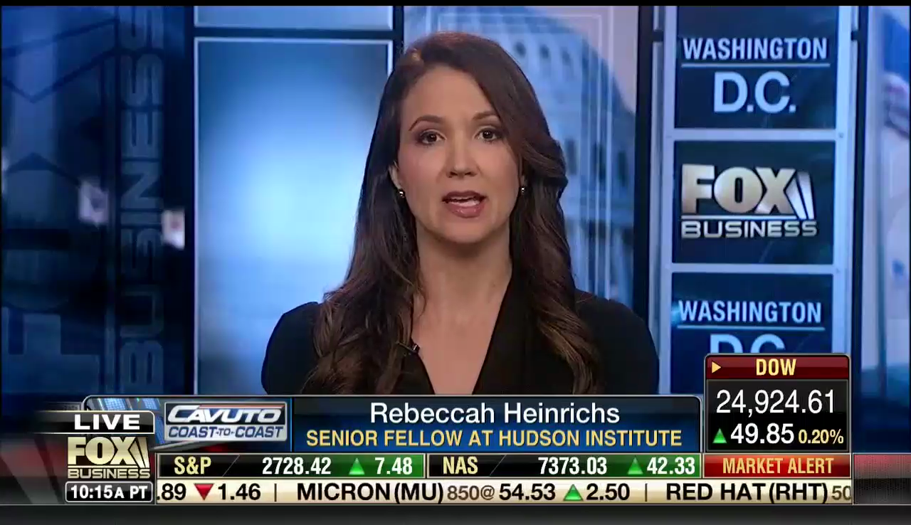 Rebeccah Heinrichs on Fox Business, March 6, 2018