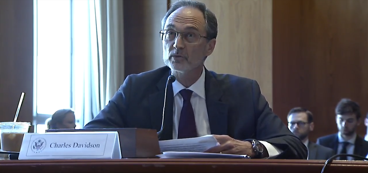 Charles Davidson testifies before the Helsinki Commission, October 3, 2017