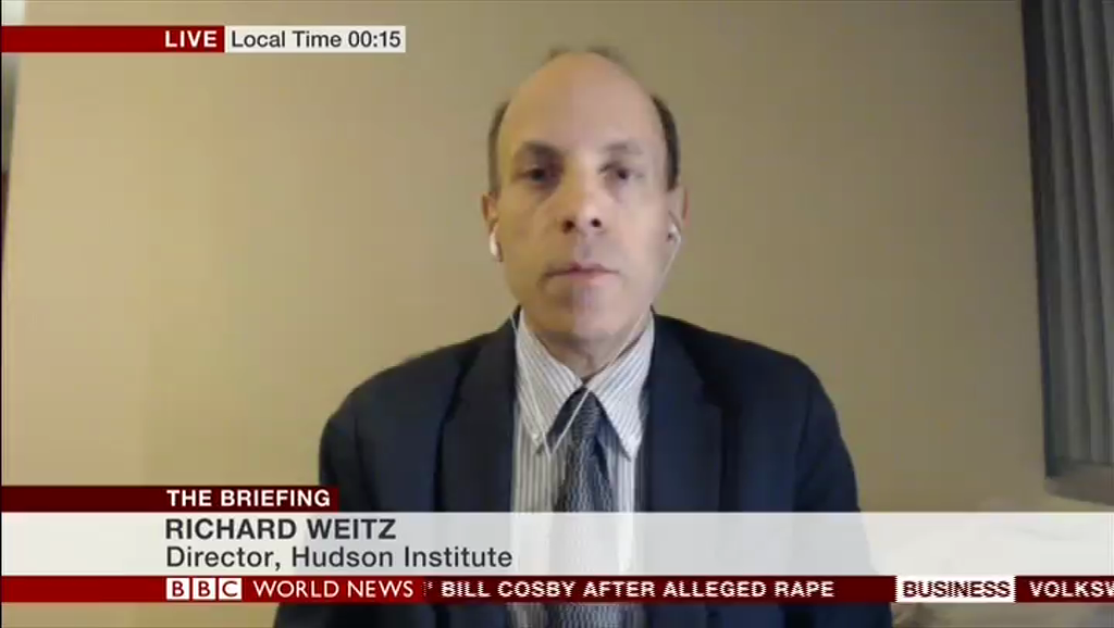 Richard Weitz on BBC, April 13, 2018