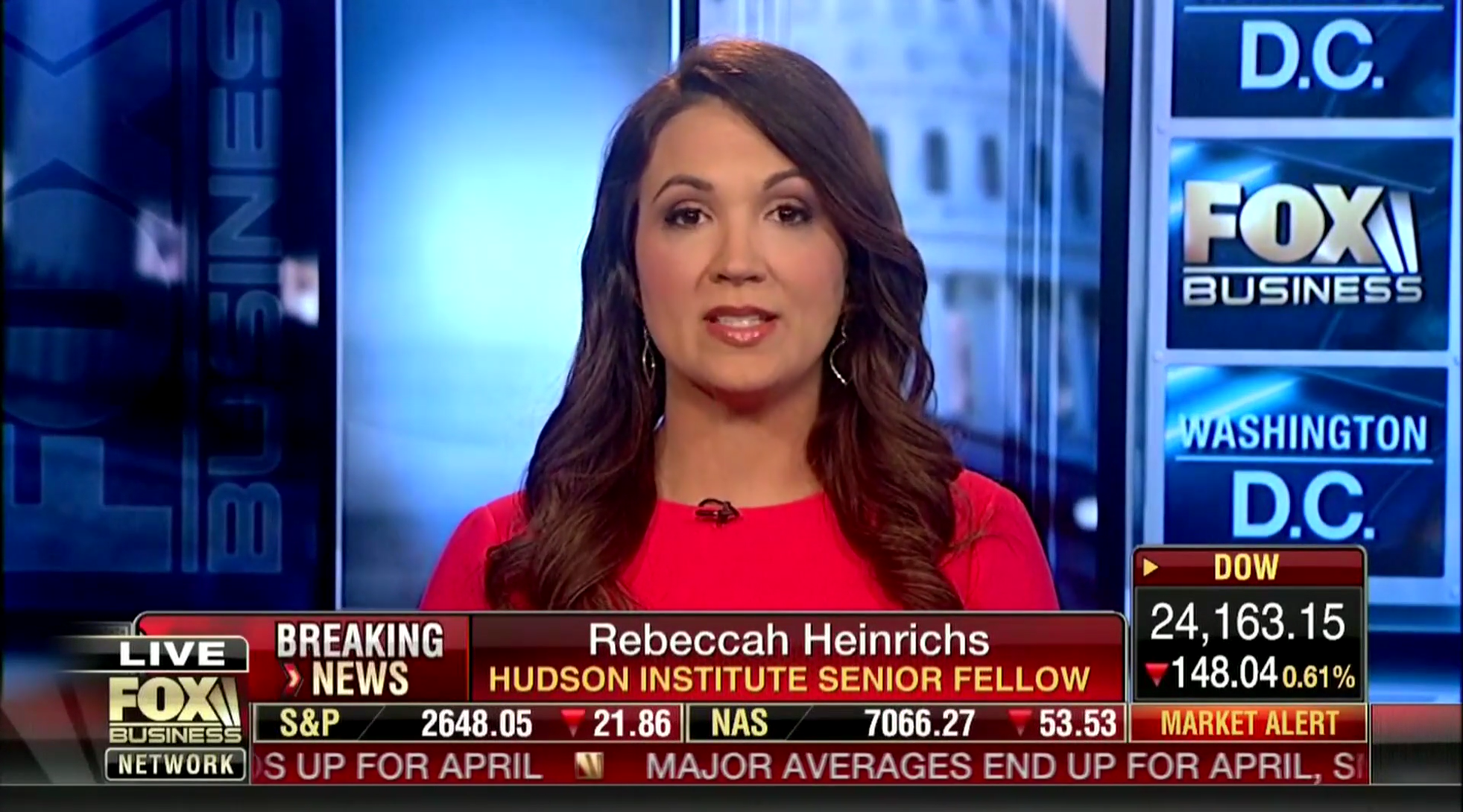 Rebeccah Heinrichs on Fox Business, April 30, 2018