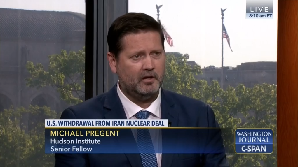 Michael Pregent on C-SPAN Washington Journal, May 11, 2018