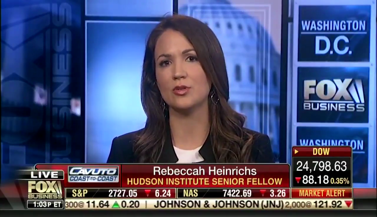 Rebeccah Heinrichs on Fox Business, May 24, 2018