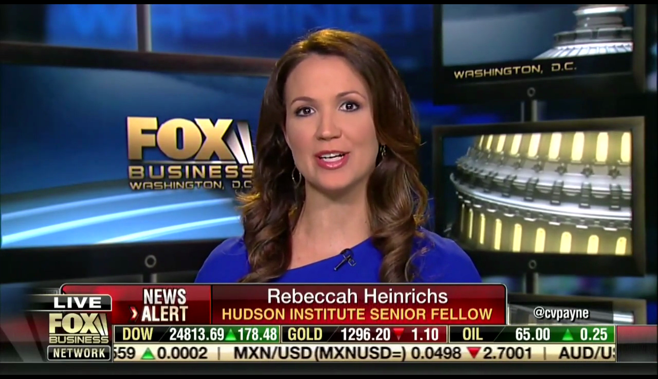 Rebecca Heinrichs on Fox Business, June 5, 2018
