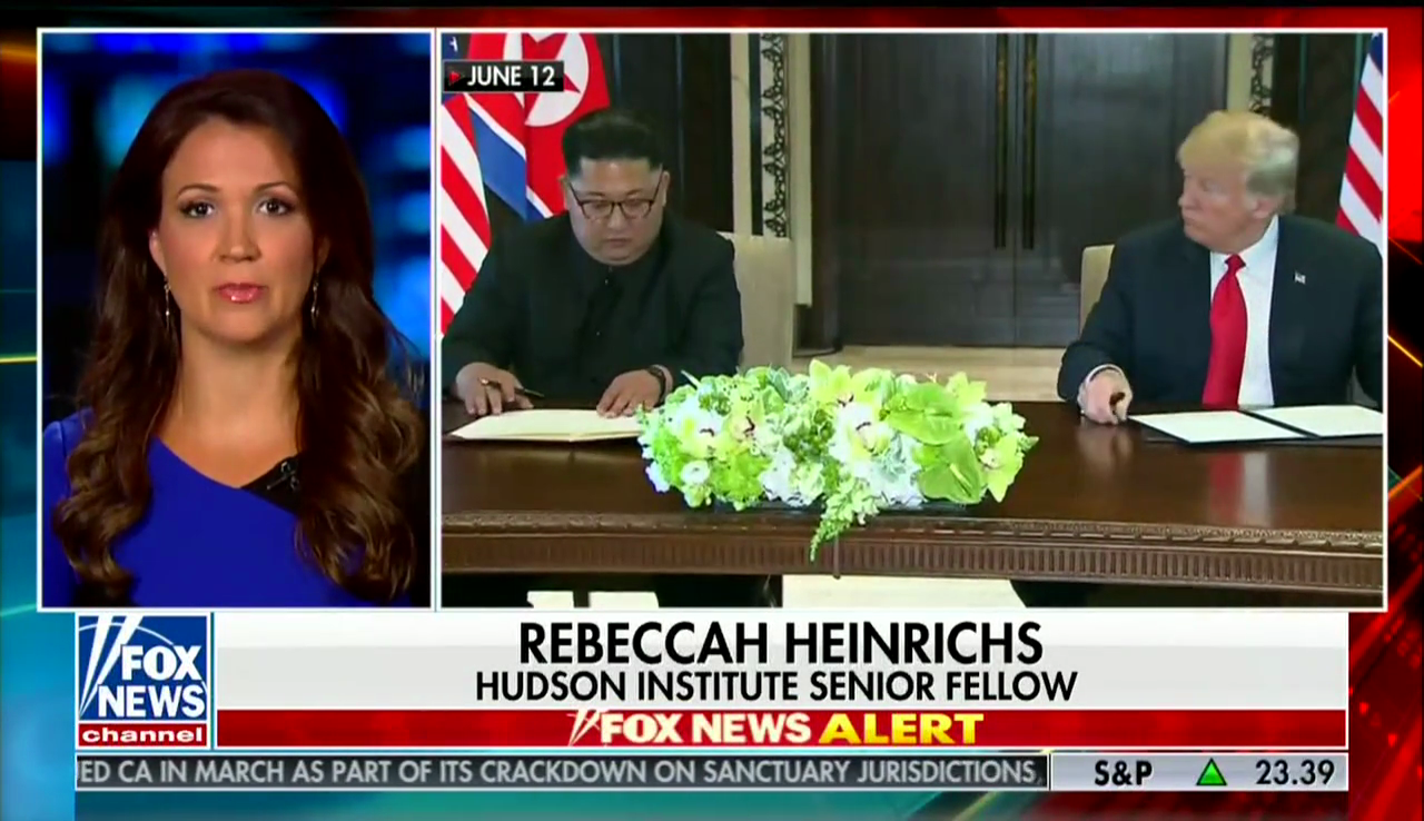 Rebecca Heinrichs on Fox News, July 5, 2018
