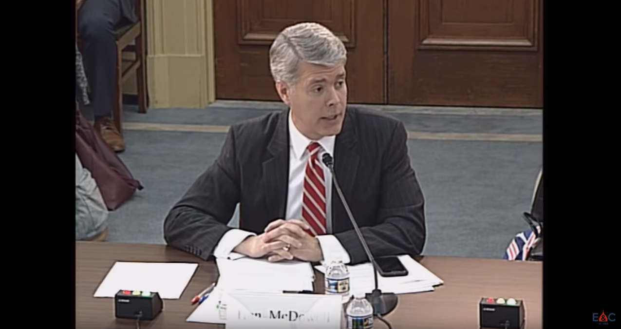 Robert McDowell Testifies before the U.S. House Committee on Energy and Commerce, July 11, 2018