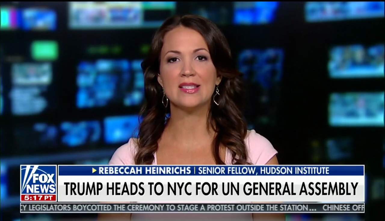 Rebeccah Heinrichs on Fox News, September 23, 2018