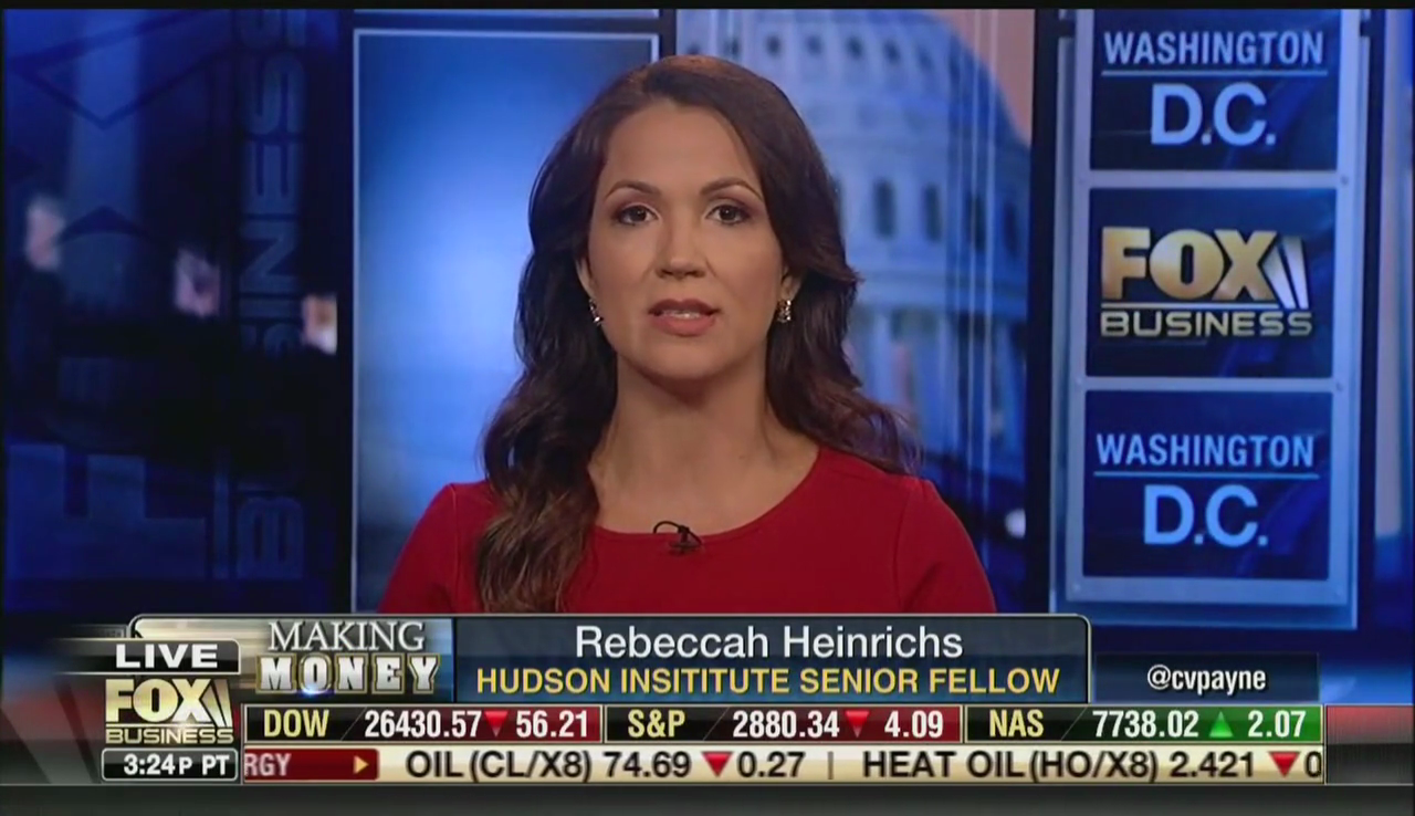 Rebeccah Heinrichs on Fox Business, October 9, 2018