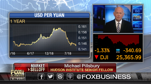 Michael Pillsbury on Fox Business, October 18, 2018