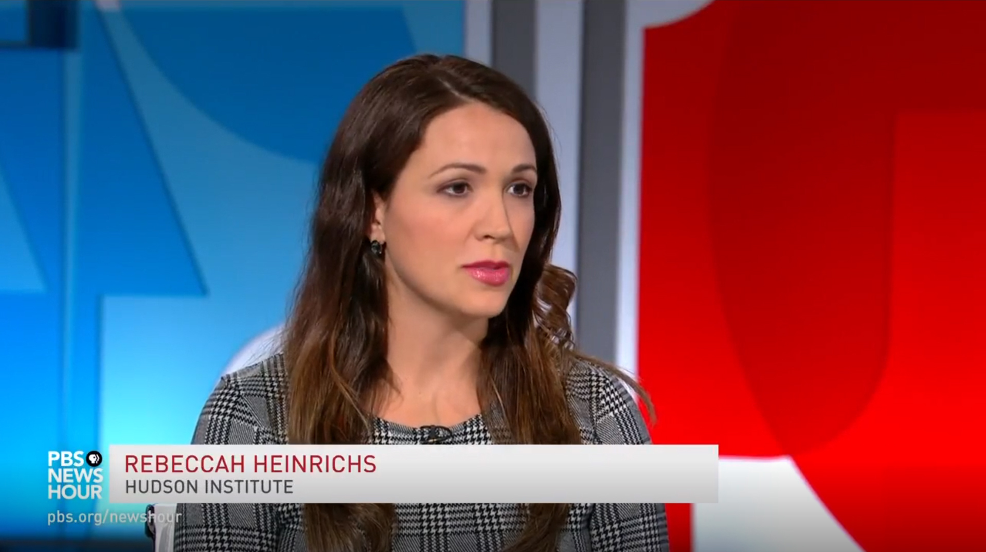 Rebeccah Heinrichs on the PBS NewsHour, October 22, 2018