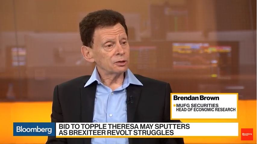 Brendan Brown Joins Bloomberg Daybreak: Europe to Discuss the Best Scenario for U.K. Assets, November 20, 2018