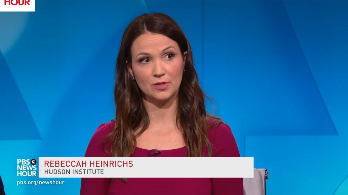 Rebeccah Heinrichs joins the PBS NewsHour to discuss President Trump's call to rapidly expand U.S. missile defense systems, January 17, 2019
