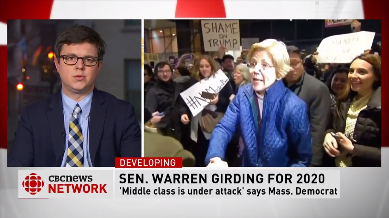 Peter Rough joins CBC News to discuss Sen. Elizabeth Warren's prospects in the presidential election, and what's ahead in the government shutdown, December 31, 2018