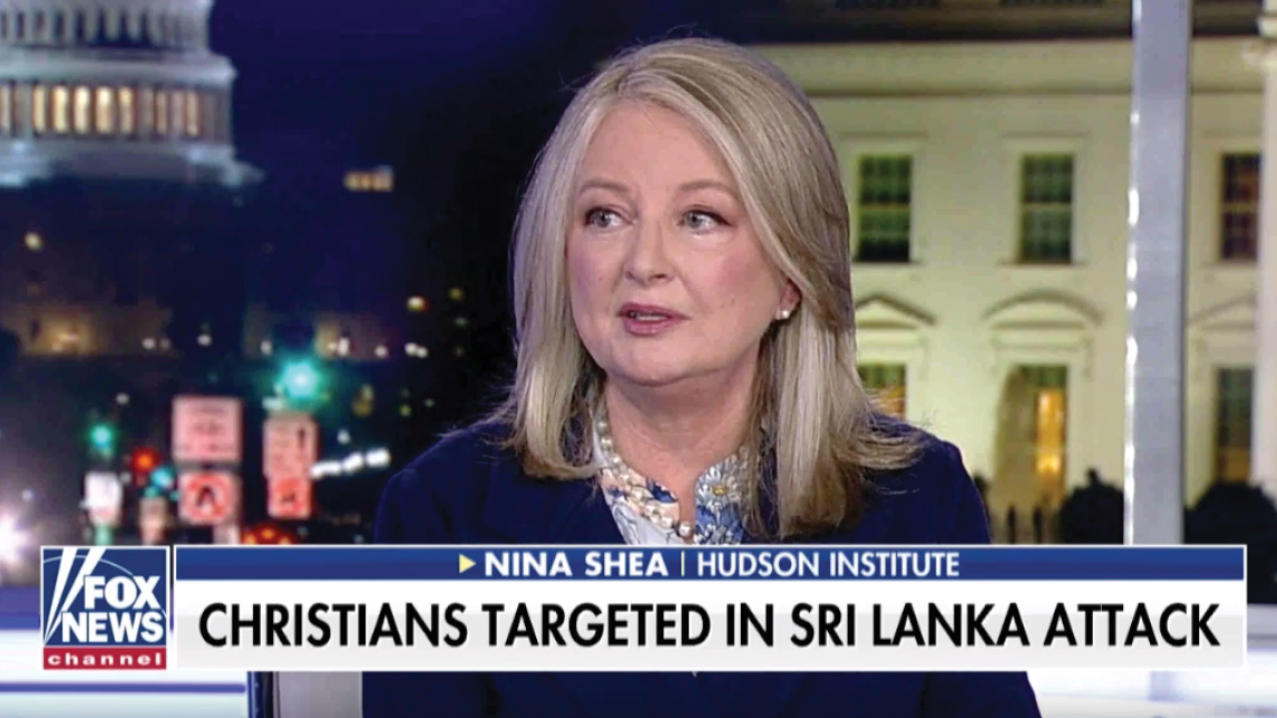 Nina Shea discusses the recent Sri Lanka bombings and the growing attacks on Christians worldwide, on April 22, 2019.