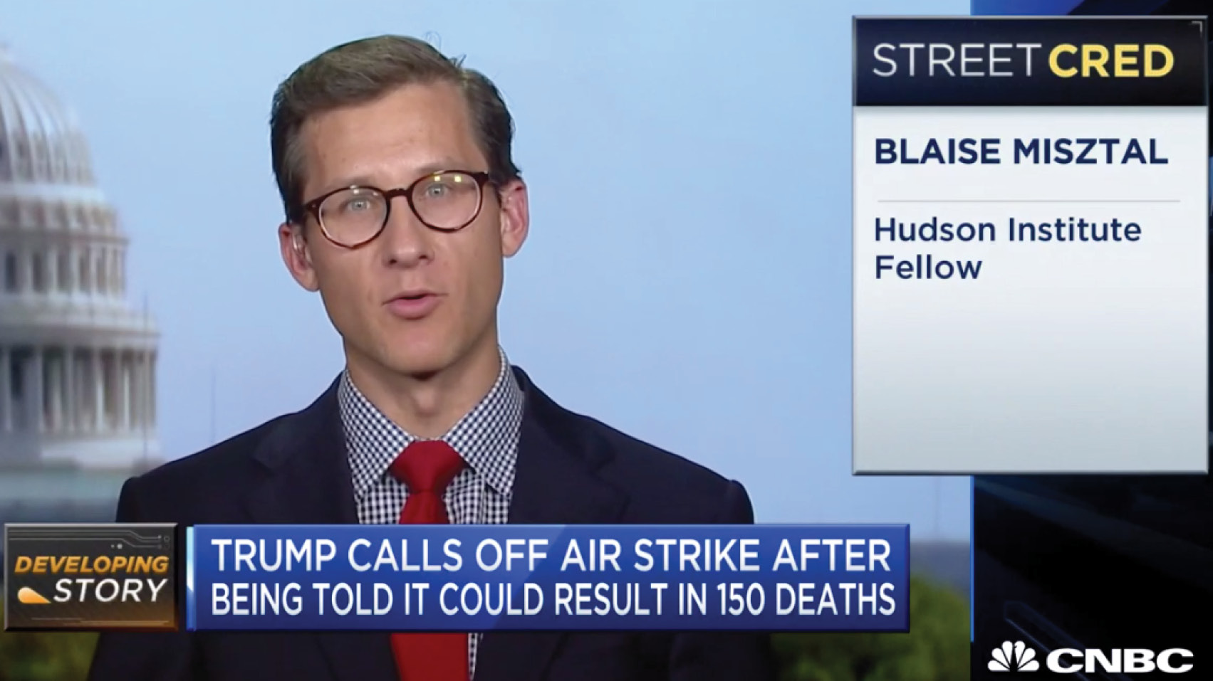 Blaise Misztal discusses President Trump's decision to call off a retaliatory strike on Iran and escalating tensions.
