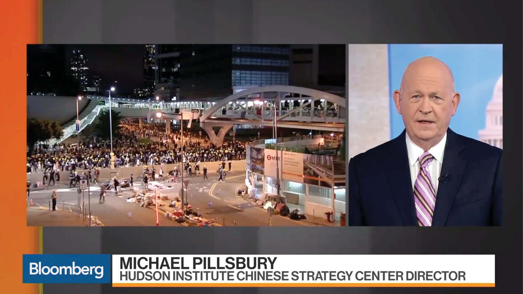 Michael Pillsbury discusses the recent protests in Hong Kong.