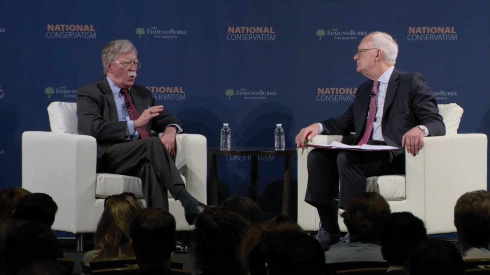 Christopher DeMuth interviews National Security Adviser John Bolton at the Edmund Burke Foundation's