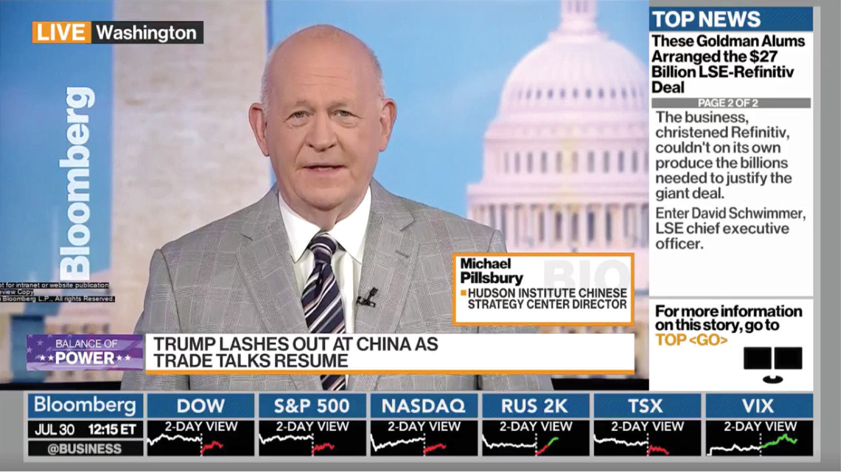 Michael Pillsbury discusses the current round of trade U.S.-China trade talks.