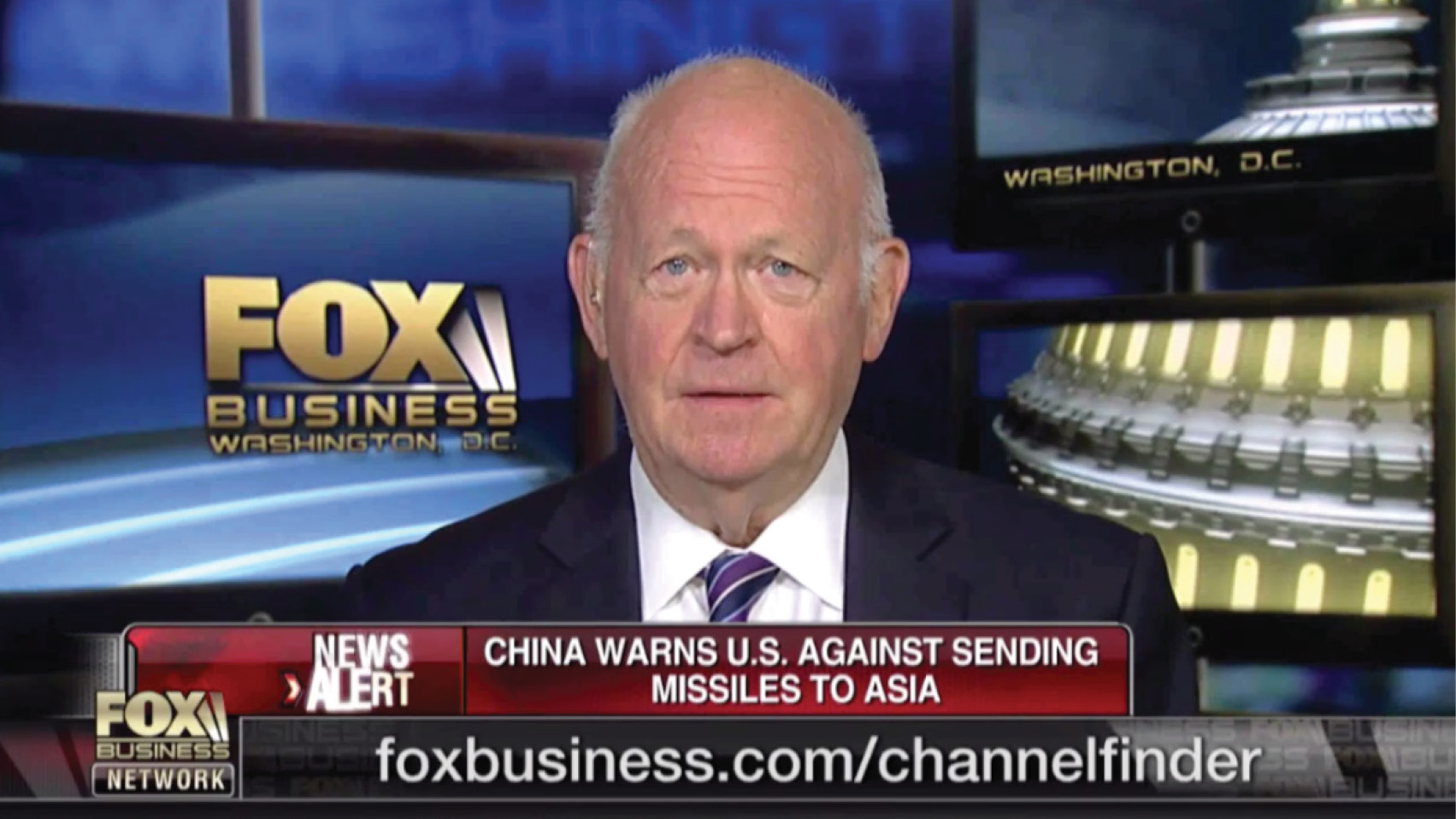 Michael Pillsbury discusses China's warning about the U.S. sending missiles to Asia.