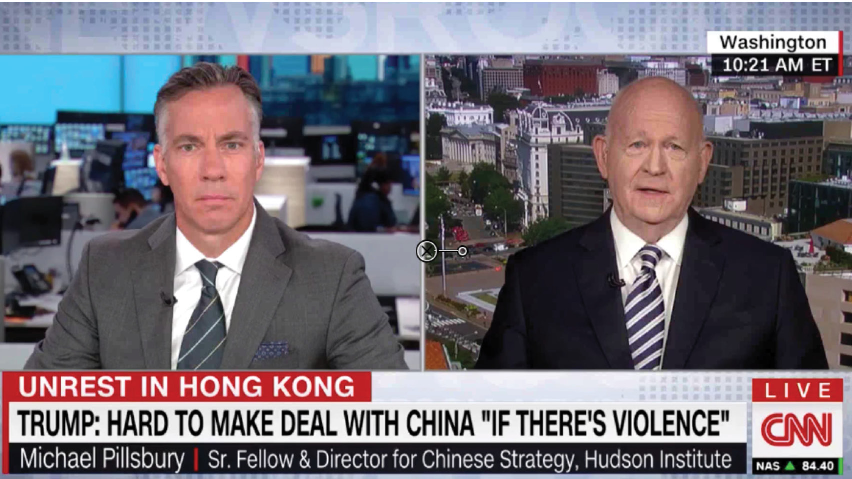 Michael Pillsbury discusses the latest on the Hong Kong protests and how they could impact the U.S.-China trade talks.
