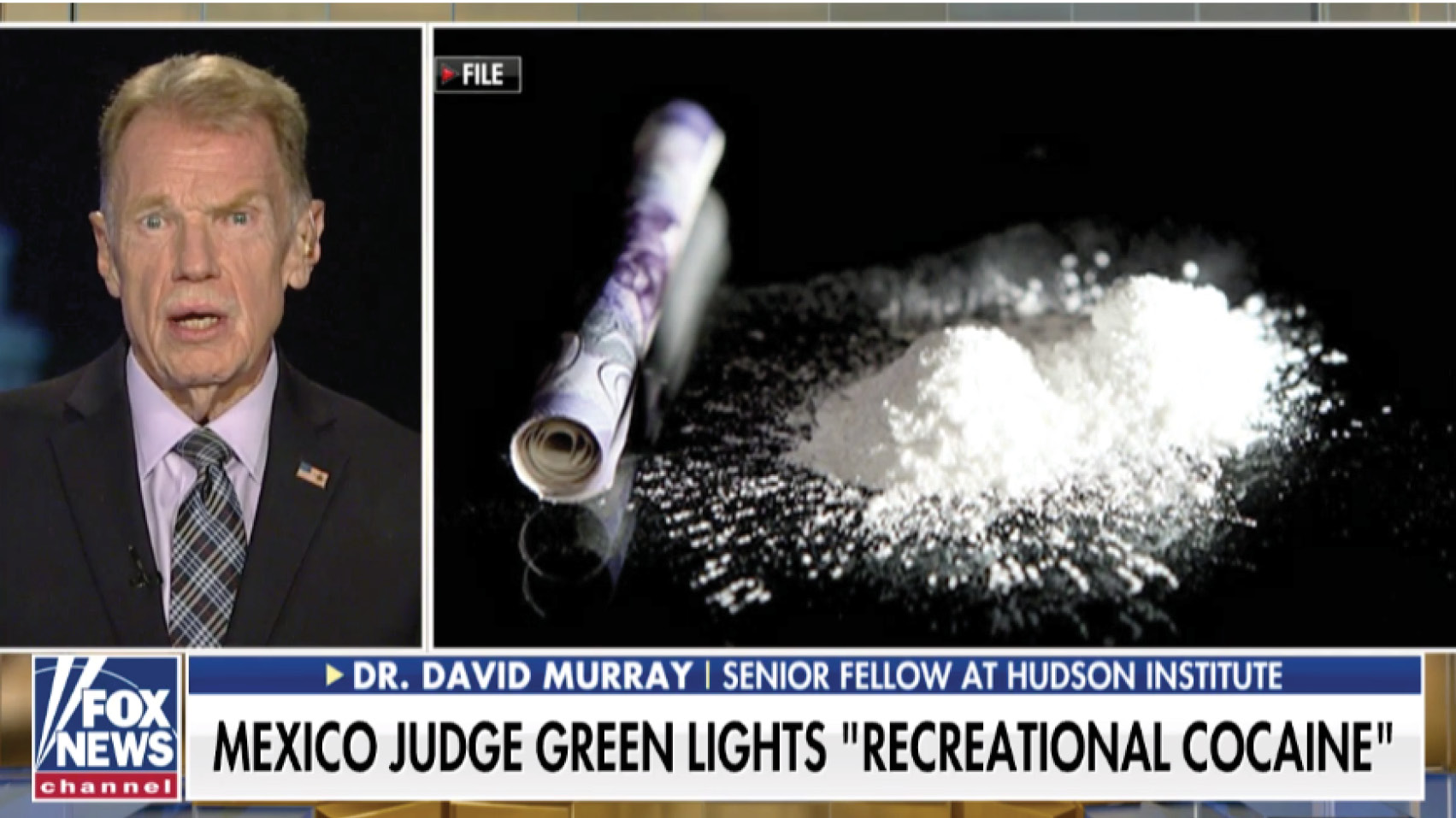 David Murray discusses the latest ruling from a judge in Mexico, who gave the green light to recreational cocaine, saying the drug laws are ineffective.