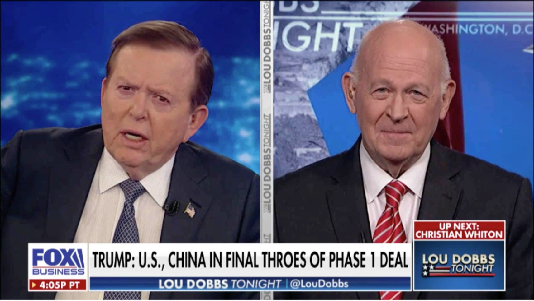 Michael Pillsbury discusses a possible U.S.-China deal before 2020