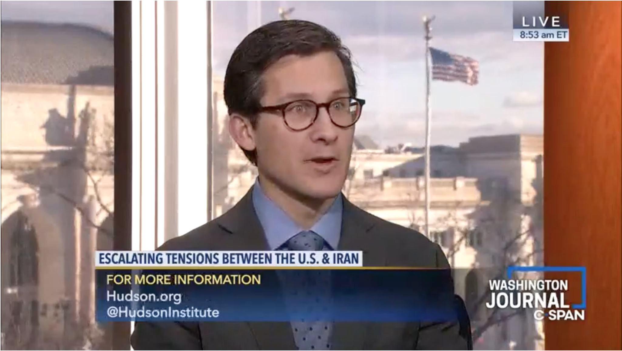 Blaise Misztal discusses tensions between the U.S. and Iran, January 5, 2020.