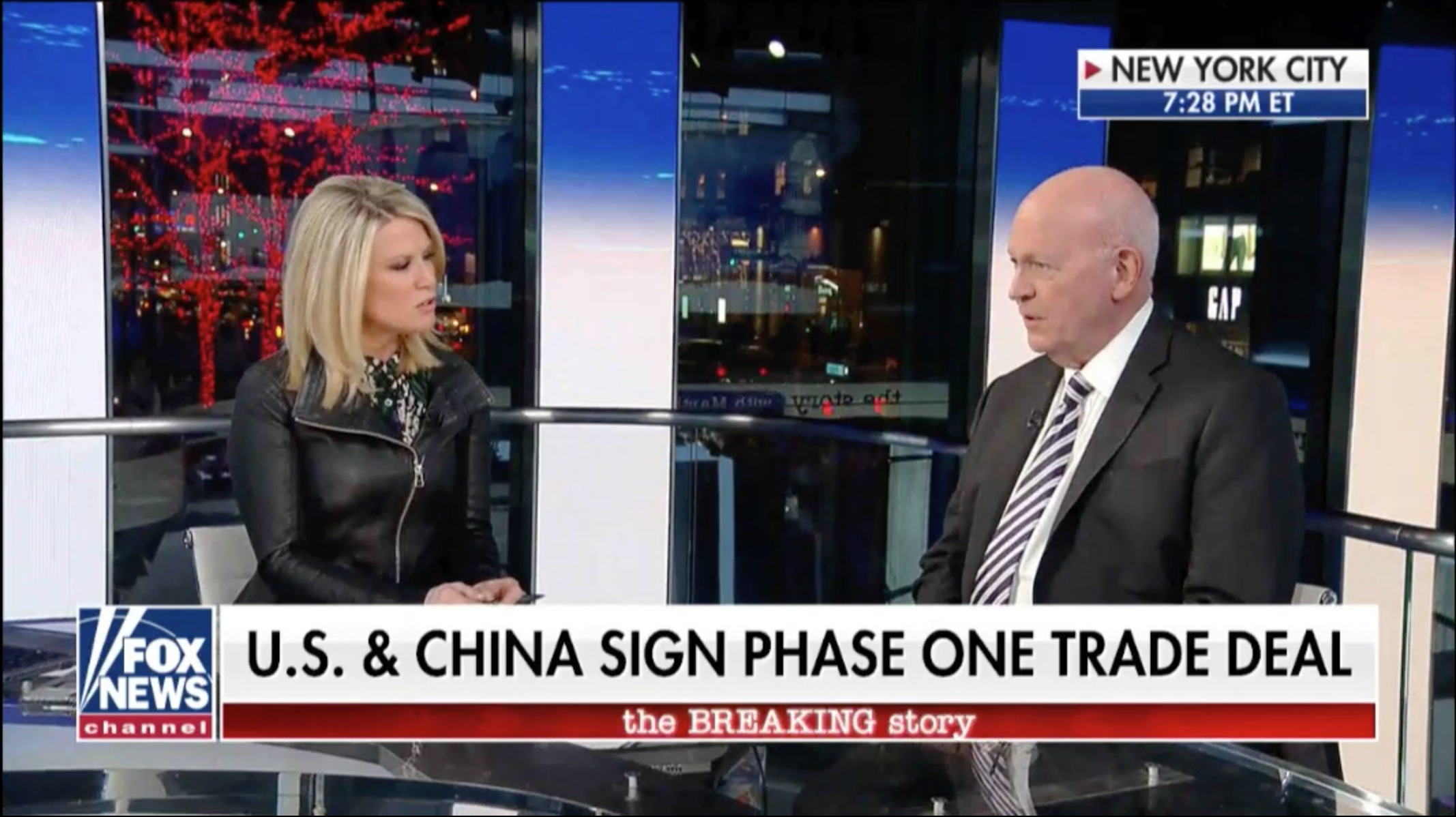 Michael Pillsbury discusses the U.S.-China 'phase one' trade deal, January 17, 2020.