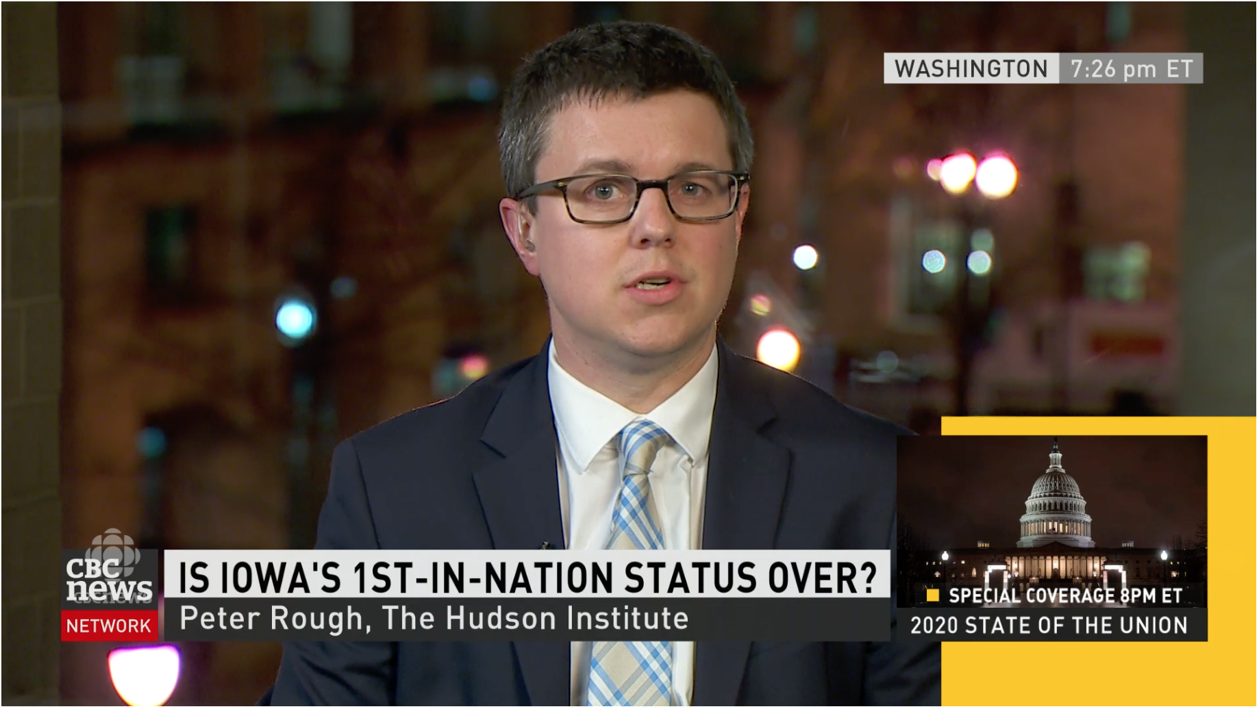Peter Rough discusses the Iowa caucus and the State of the Union speech.