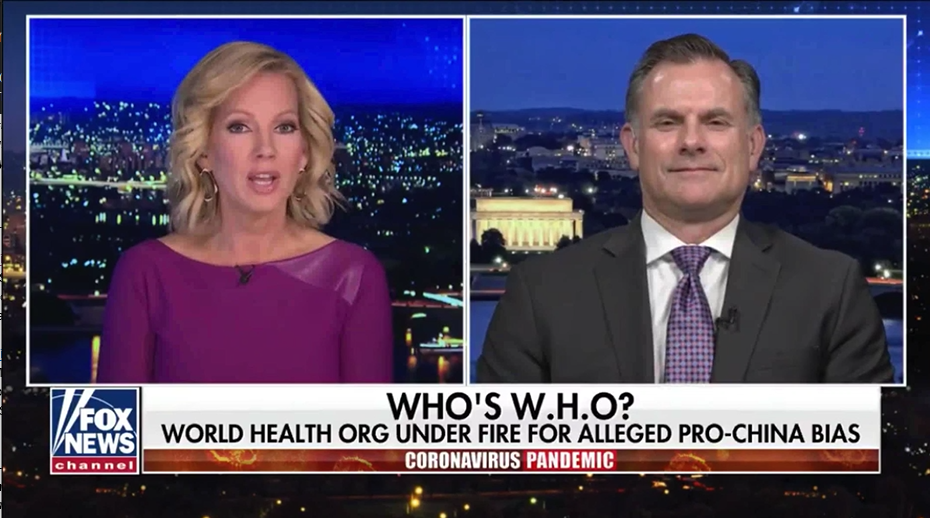 Rob Spalding discusses recent allegations of pro-China bias by the World Health Organization.
